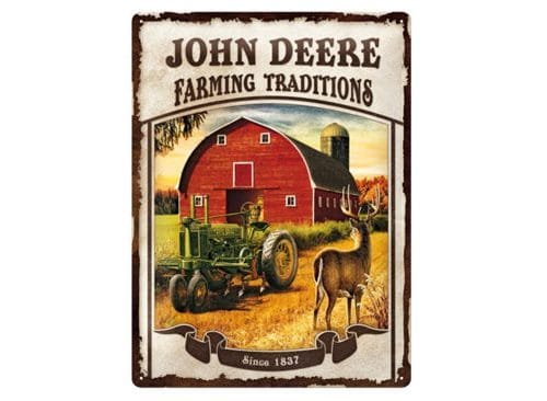JOHN DEERE Blechschild Farming Traditions