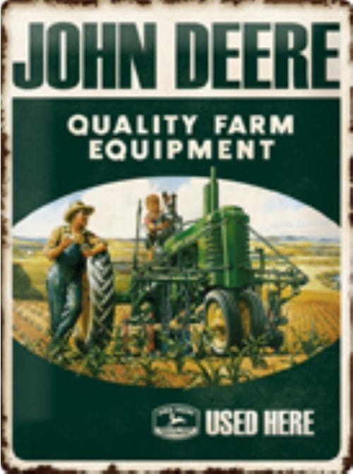 JOHN DEERE Blechschild Quality Farm Equipment